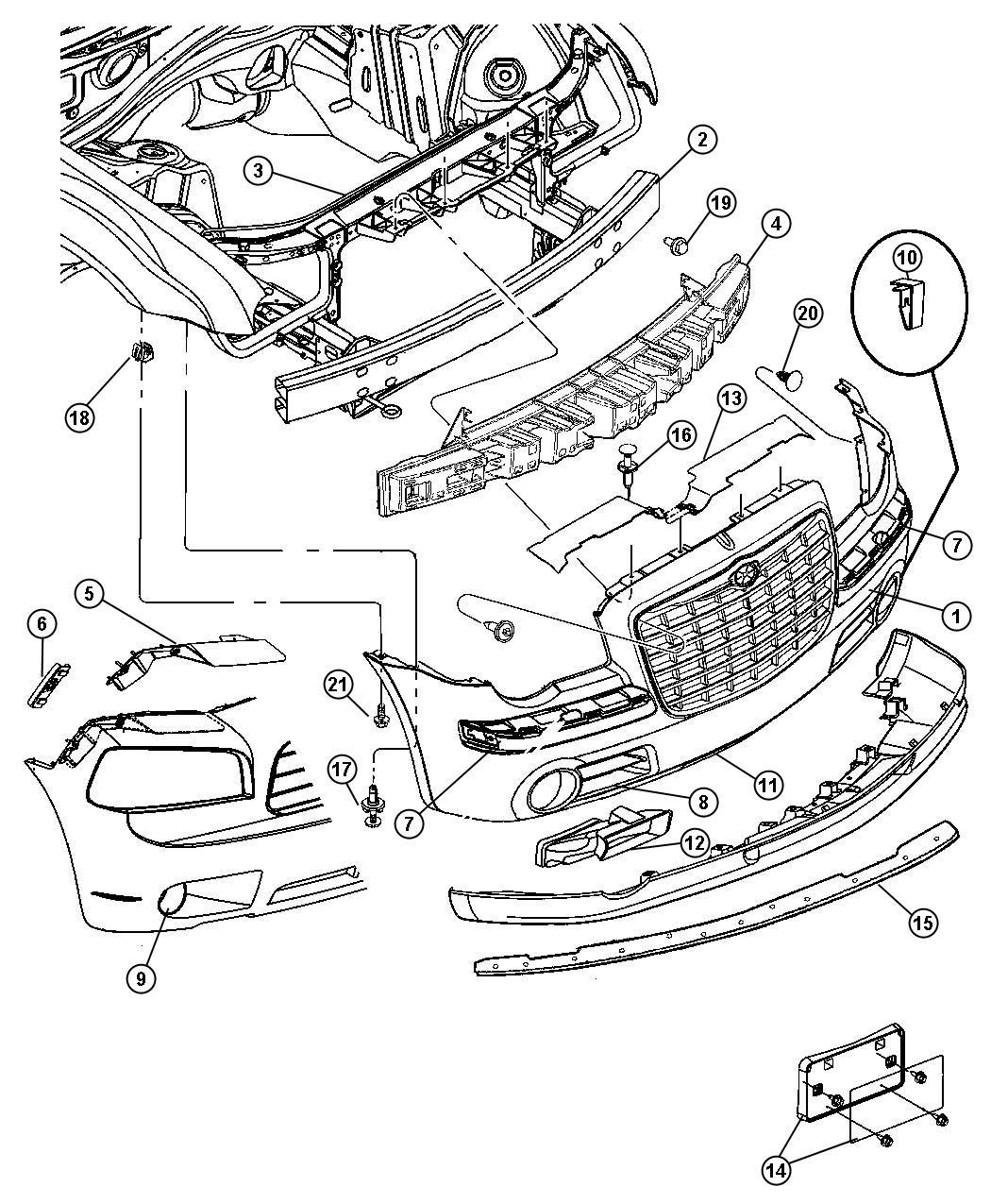 2008 Dodge Charger R/T 5.7L Hemi V8 Bracket. Fascia