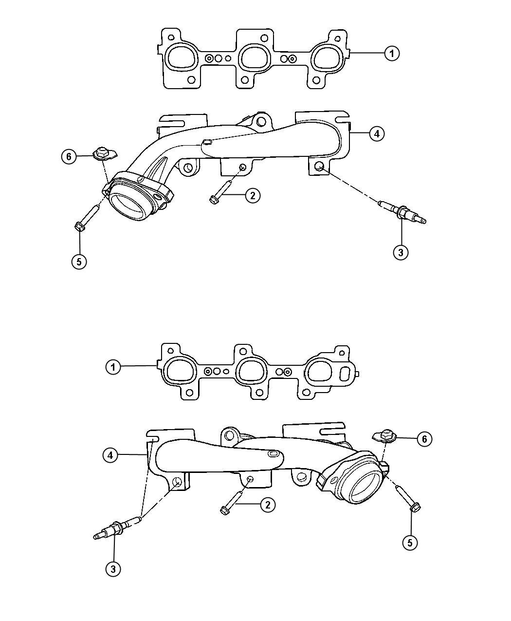 Jeep Commander Shield. Exhaust manifold. Right, right side