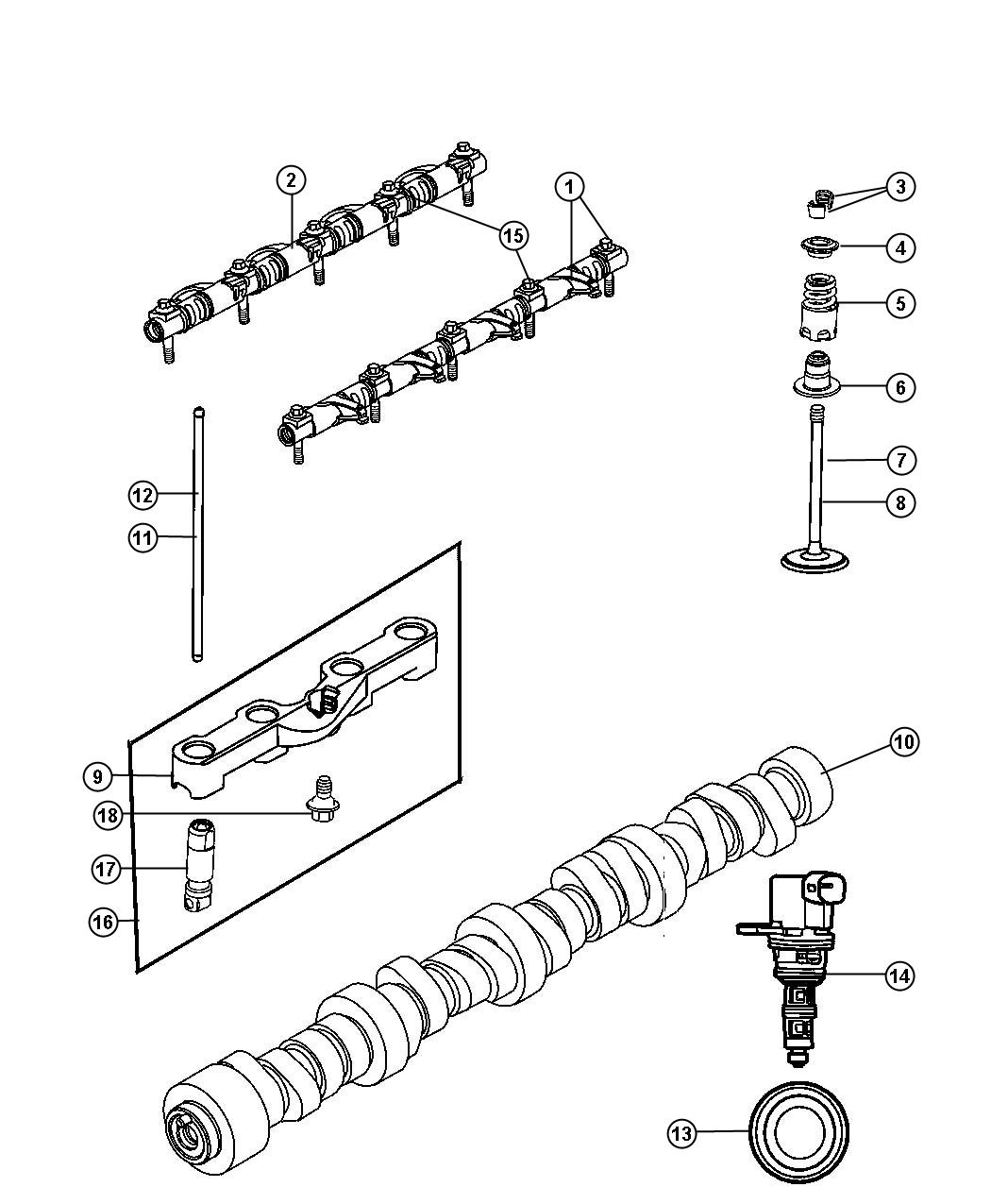 Jeep Commander Used for: LIFTERS AND YOKE. Hydraulic