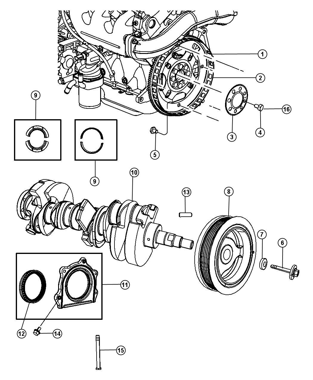 Jeep Wrangler Crankshaft Remanufactured