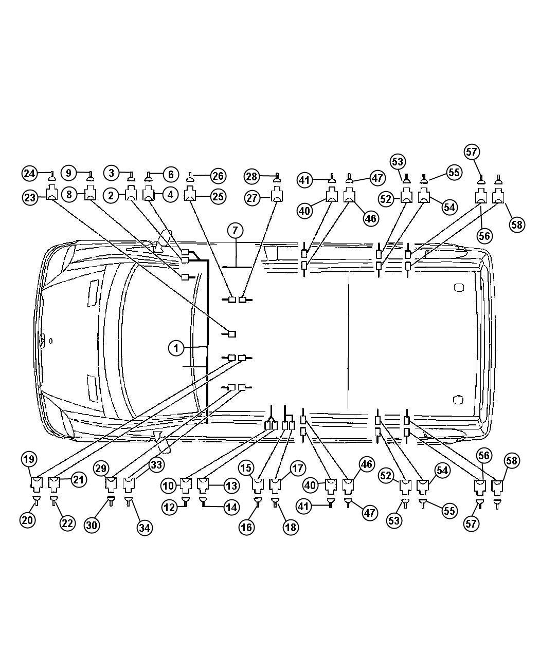 Dodge SPRINTER Connector. Wiring. [4 pin. X64/14], [6 pin