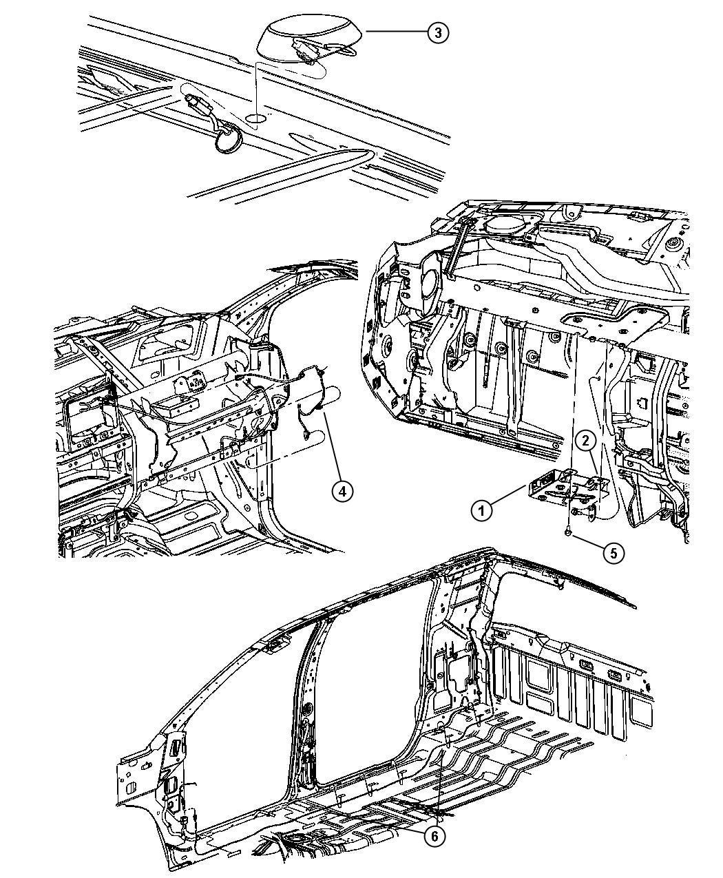 Dodge Ram 5500 Wiring. Radio jumper, satellite antenna