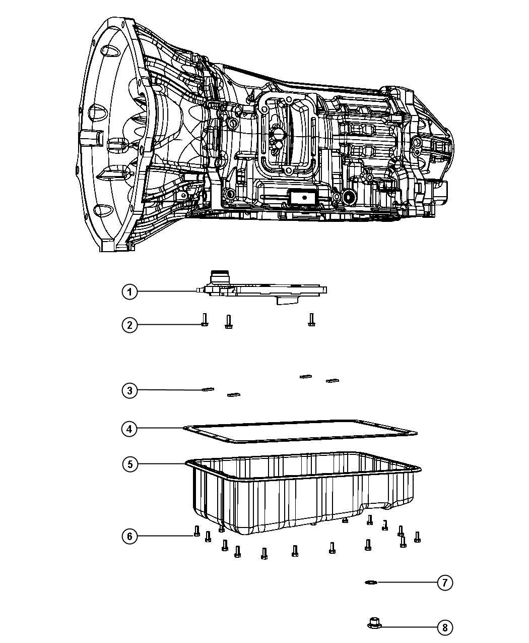 Dodge Ram 5500 Magnet. Transmission, transmission oil