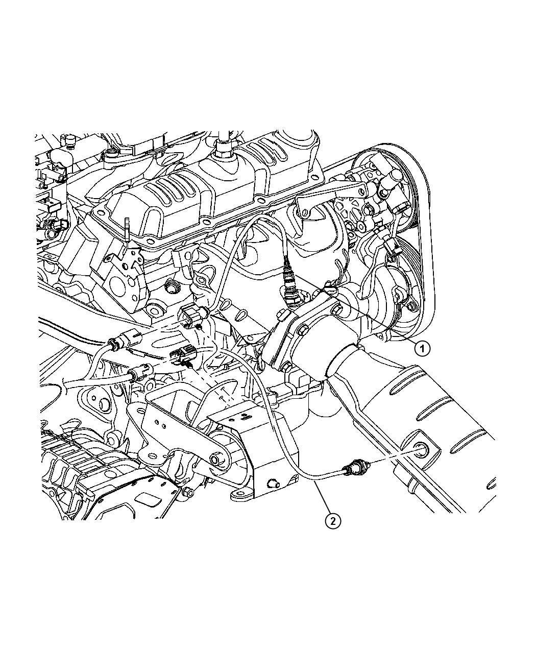2008 Chrysler 300 Limited 3.5L V6 Sensor. Oxygen. After
