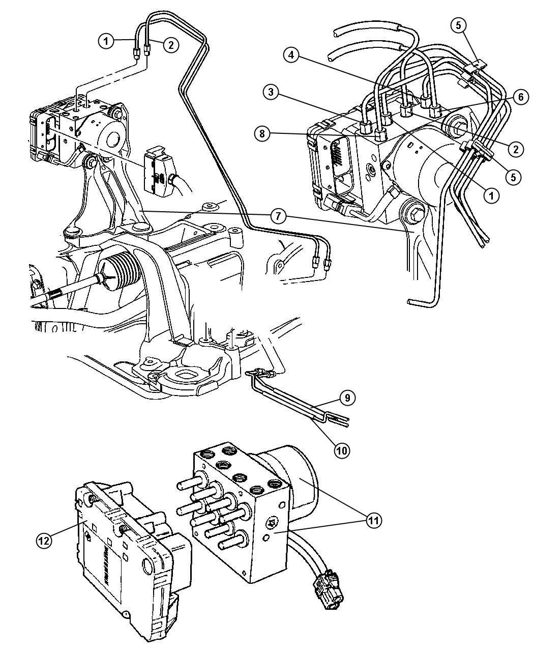 Dodge Clip Brake Line Retainer Washer Hose