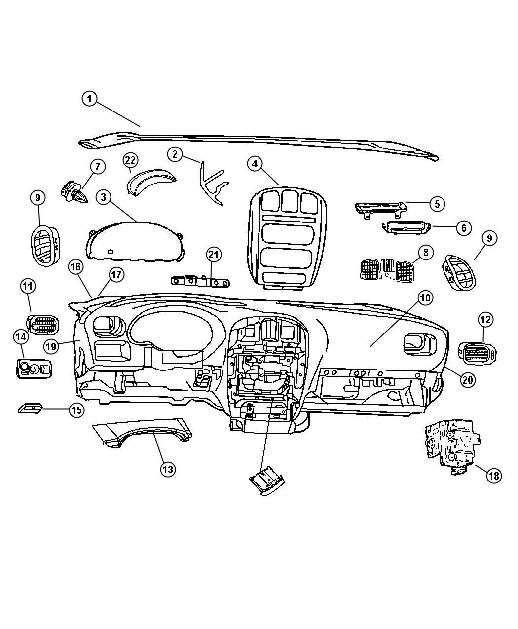 1999 Jeep Grand Cherokee BASE 4.0L Power Tech I6 Fastener