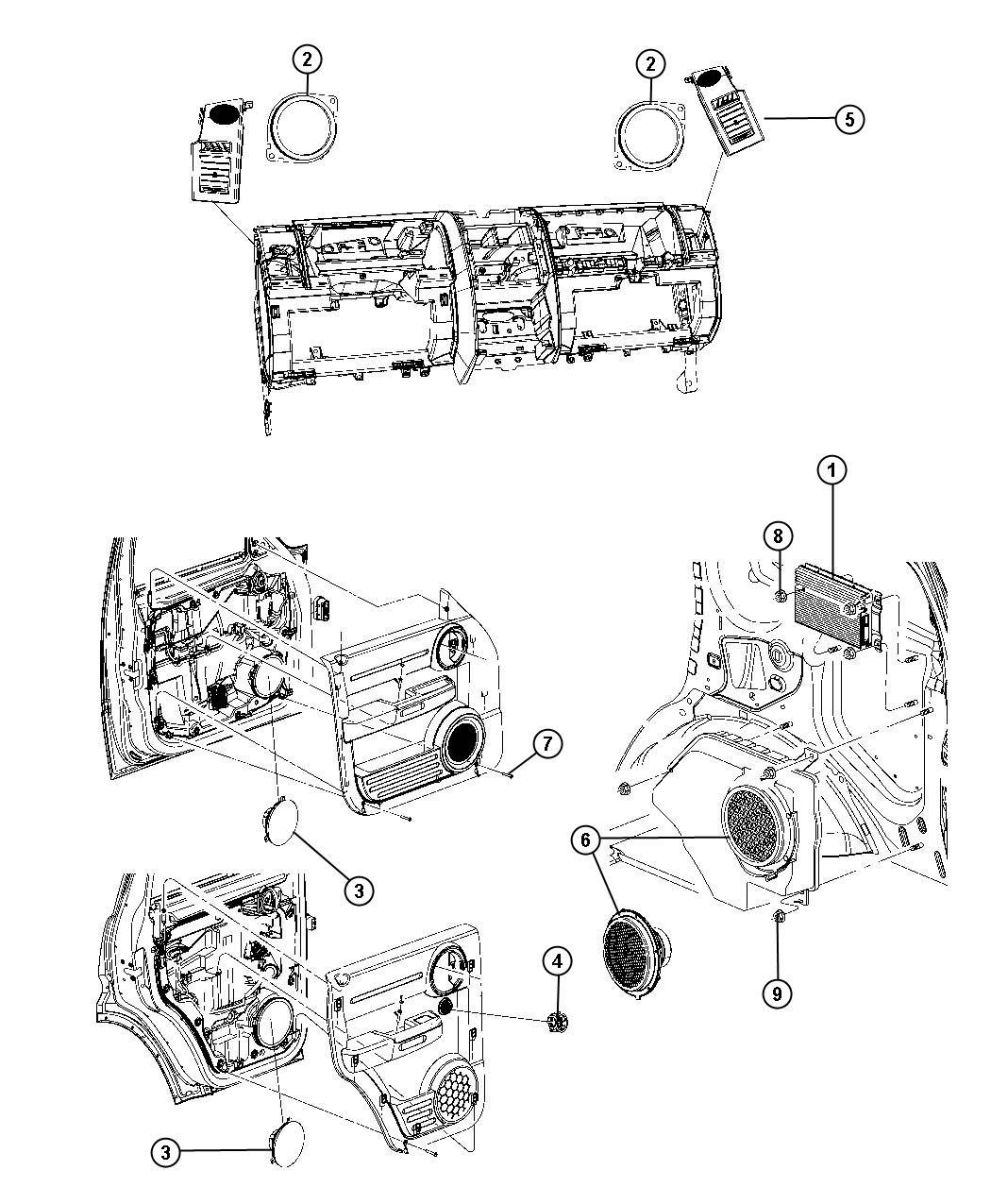 Dodge Nitro Amplifier Radio 8 Infinity Speakers W