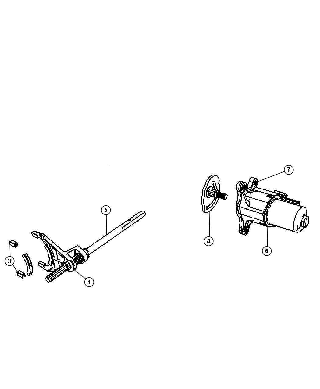 2014 Jeep Grand Cherokee Gear motor. Transfer case