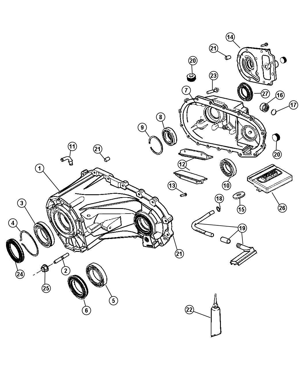 2015 Dodge Plug. Transmission drain. Drain & fill