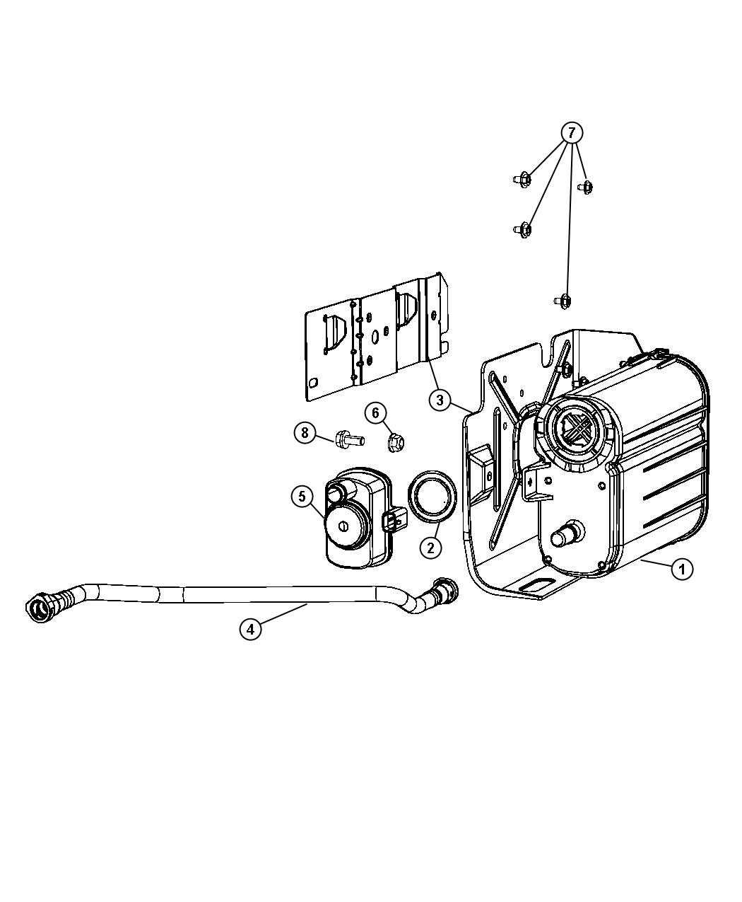 2014 Jeep Grand Cherokee Detector. Evaporative system