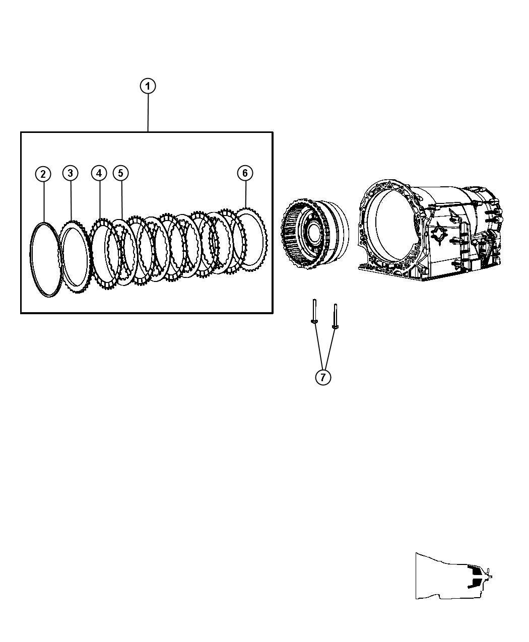 Dodge Nitro Clutch package. B2 brake clutch stack up. [3