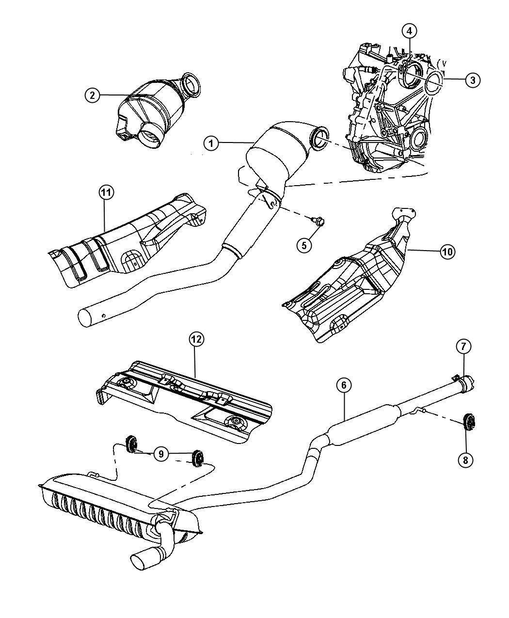 Jeep Patriot Shield. Converter, heat. Catalytic converter