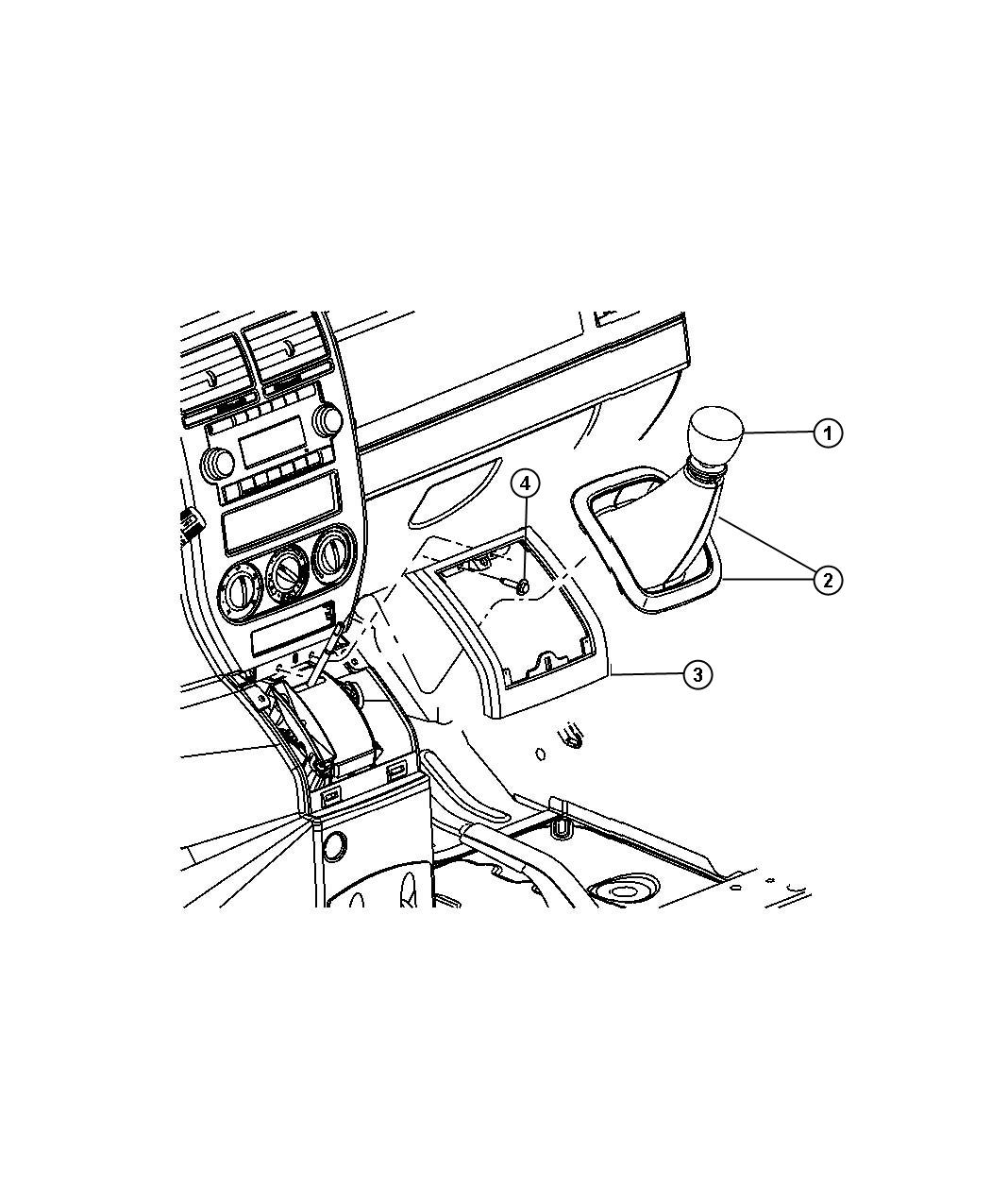 Jeep Patriot Knob. Gearshift. [6-speed manual aisin bg6