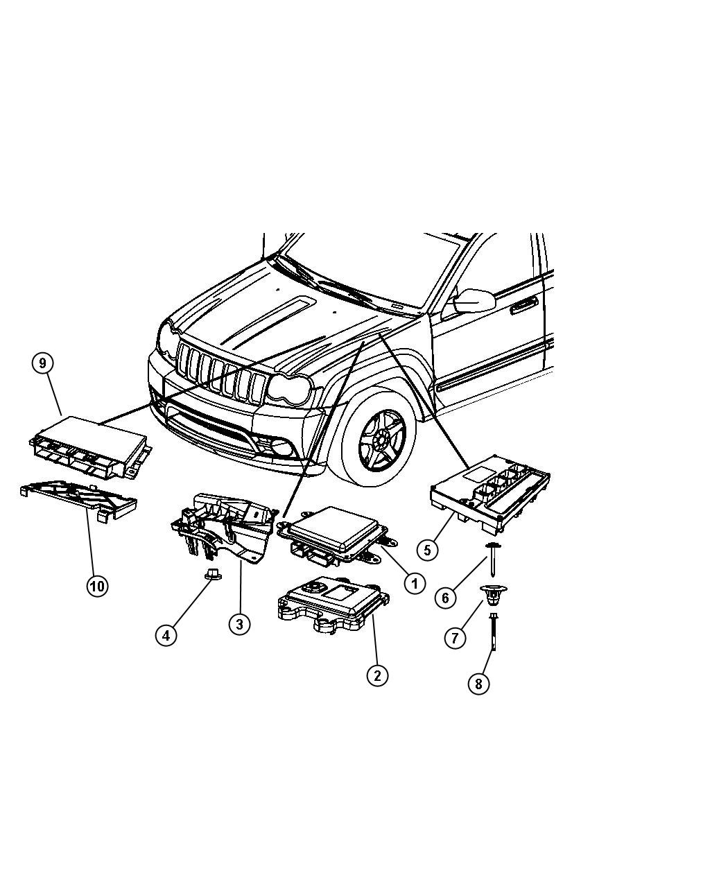 Jeep Grand Cherokee Module Front Control