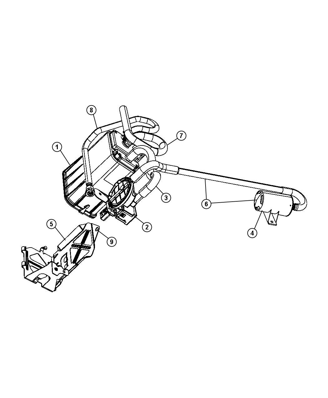 Chrysler Pt Cruiser Filter. Fuel vapor vent, leak