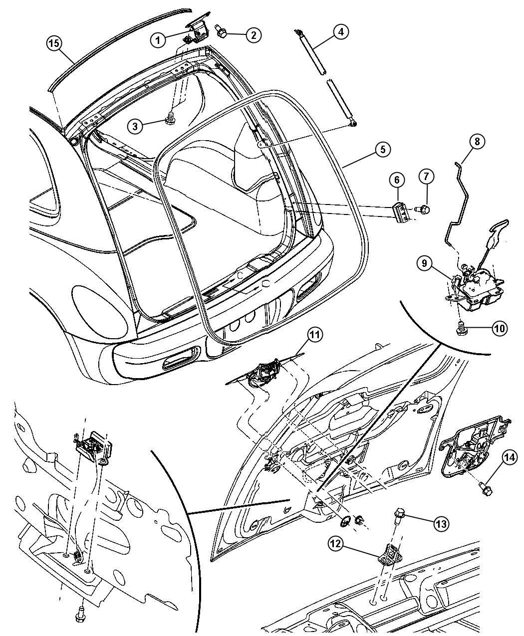 2006 Chrysler Pt Cruiser Handle. Liftgate. Color: (-wg