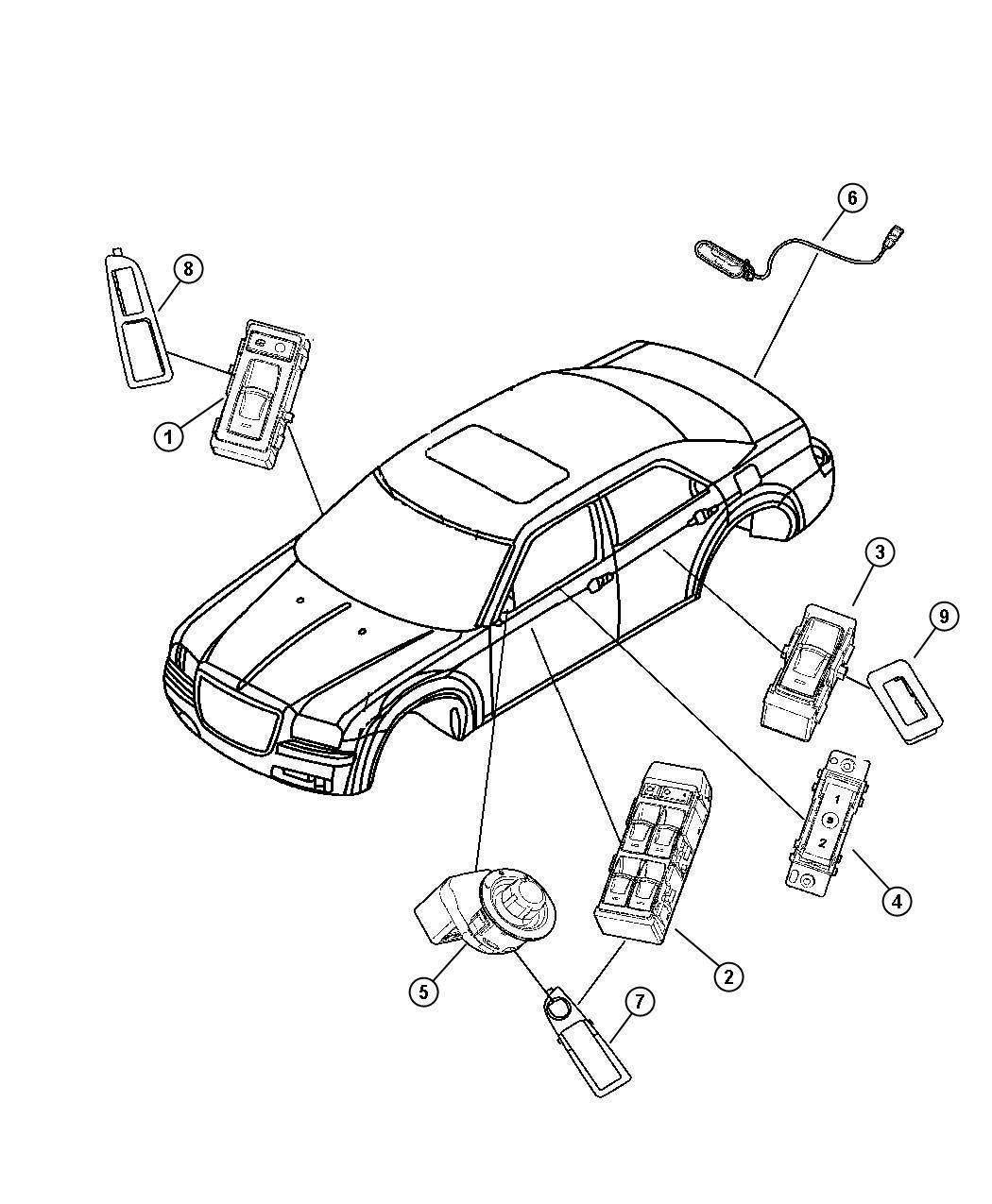 Dodge Magnum Base 2 7l V6 Switch Liftgate Release