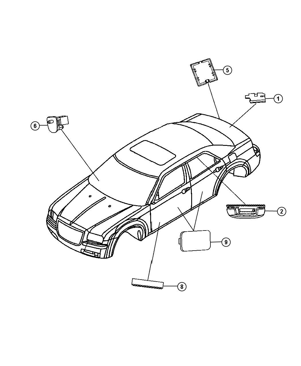 Dodge Charger R T 5 7l Hemi V8 Lamp Liftgate Lamps