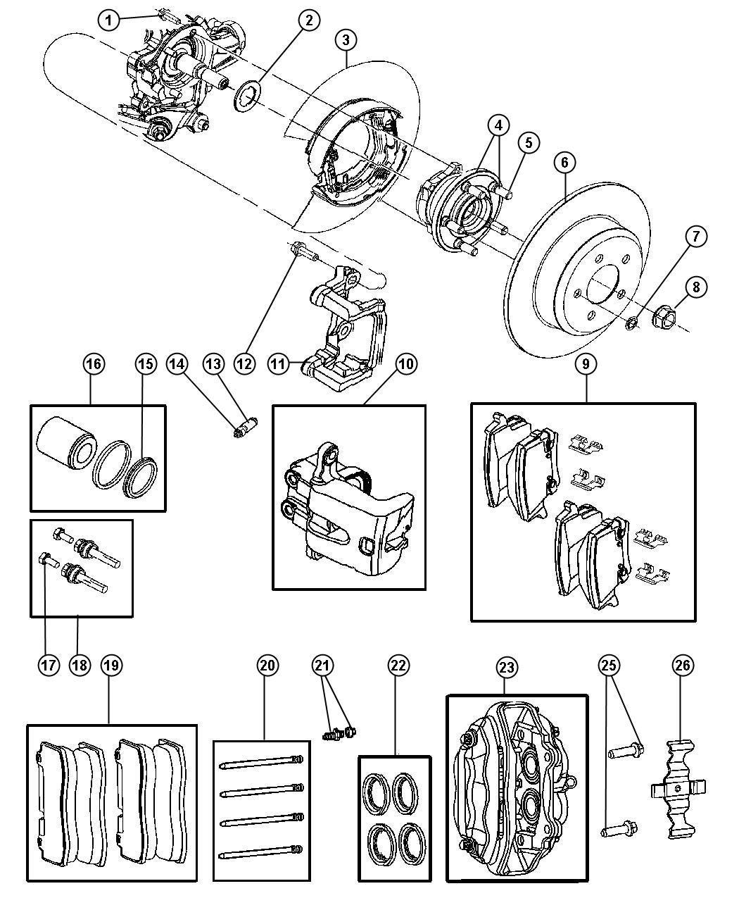 2006 Chrysler 300 SRT8 SRT8 6.1L Hemi SRT V8 Rotor. Brake