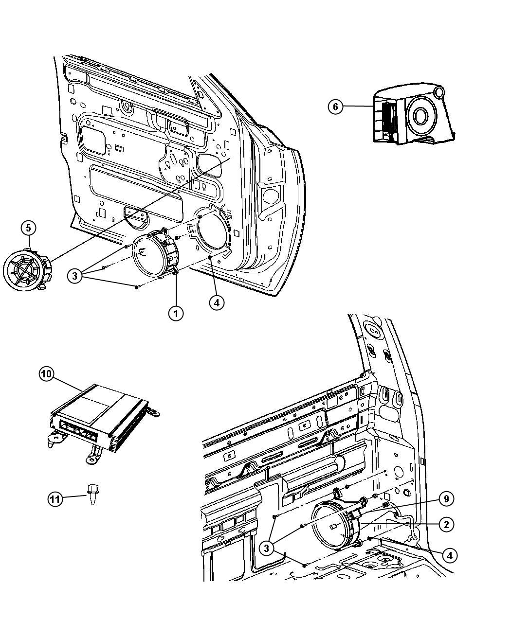 Dodge Dakota Slt Quad Cab 4 7l V8 M T 4x4 Speaker 6