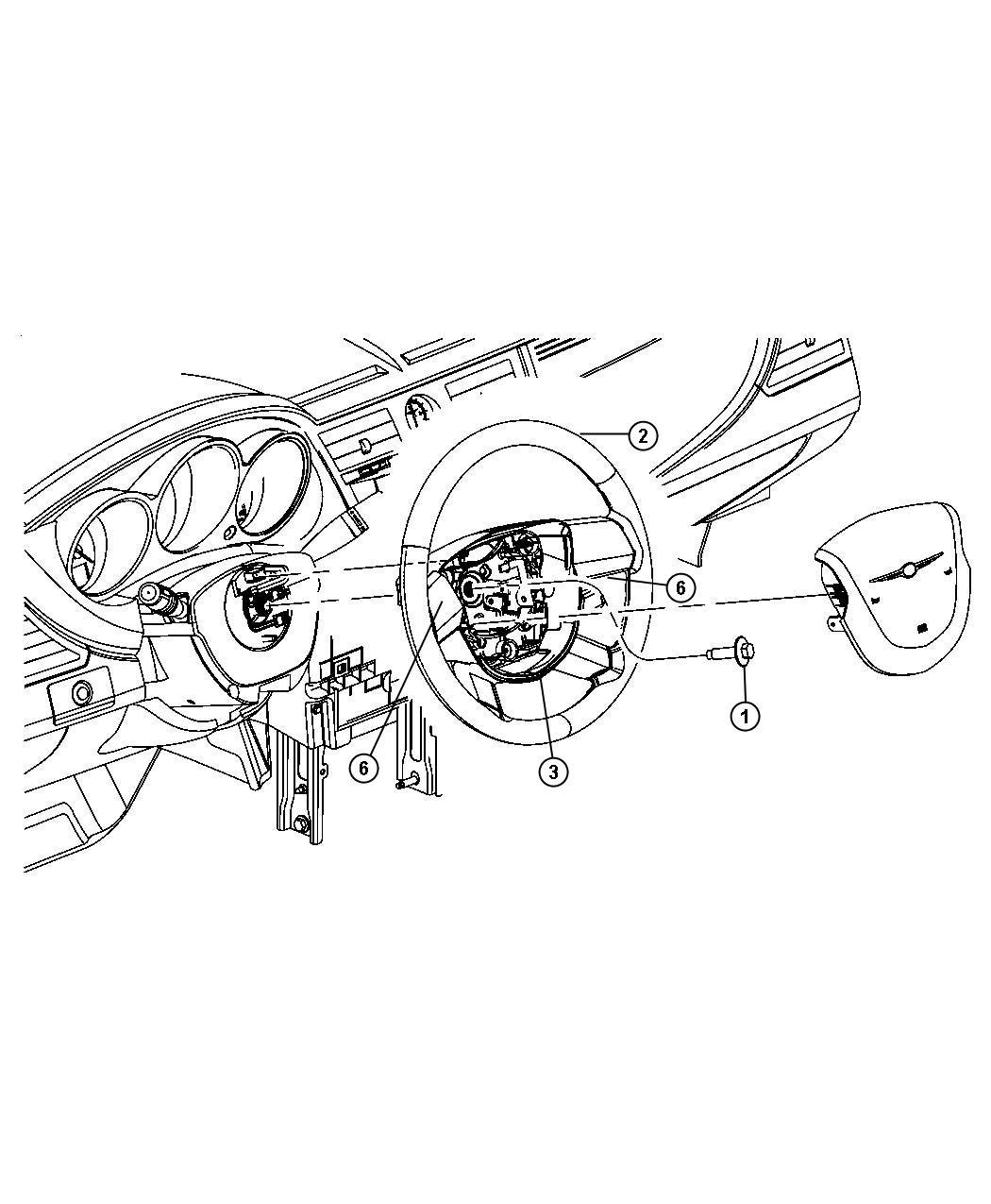Chrysler Sebring Cover. Steering wheel back. Trim: [all