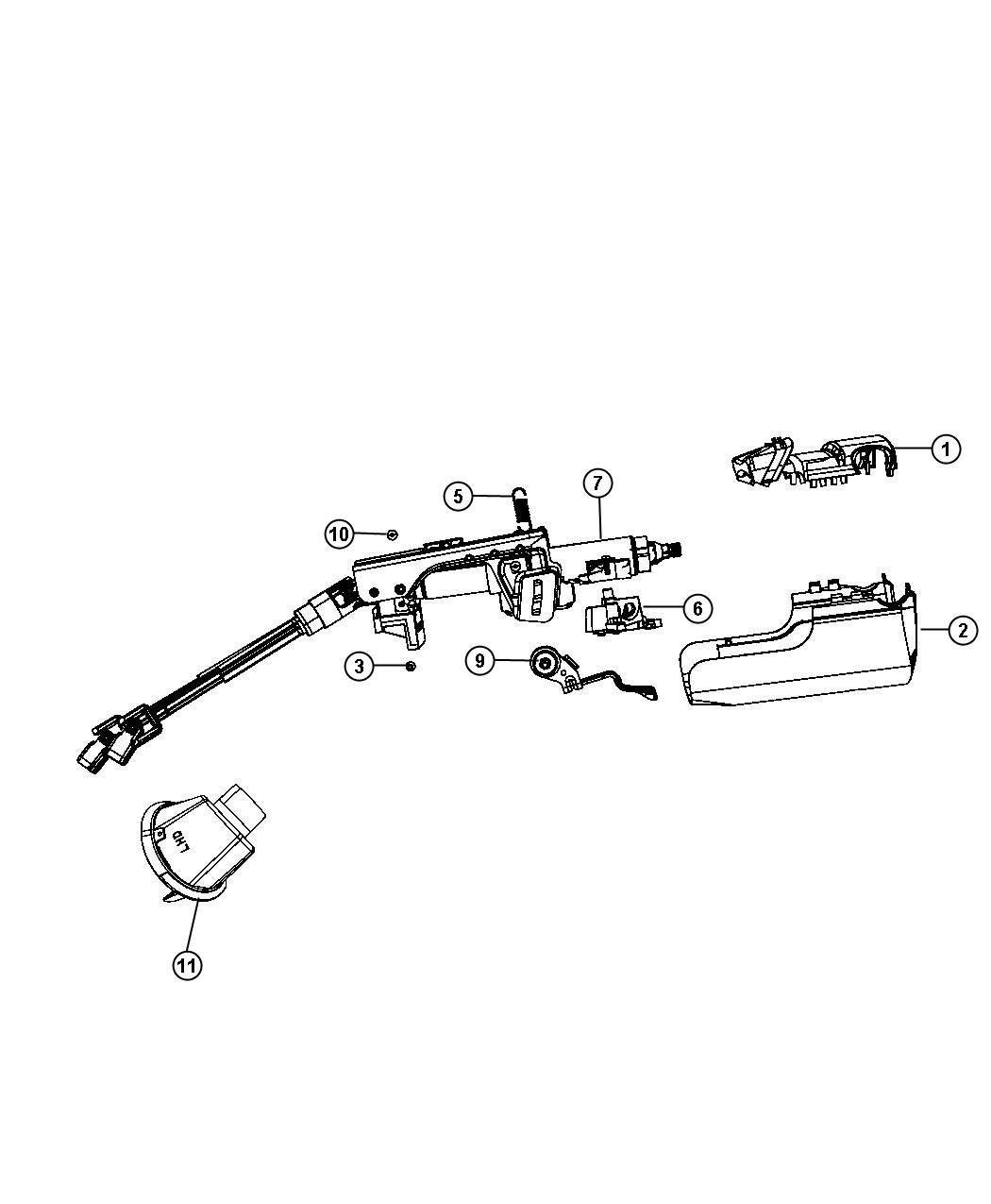 Chrysler Sebring Shroud Steering Column Upper Db