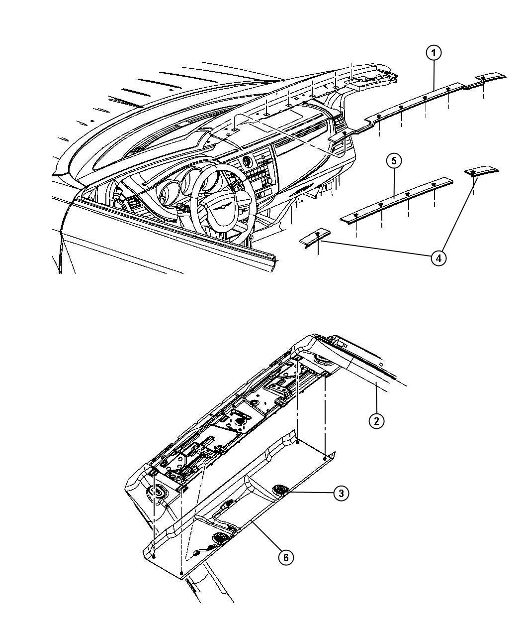 2008 Chrysler Sebring Molding. Windshield. [haa], [haa