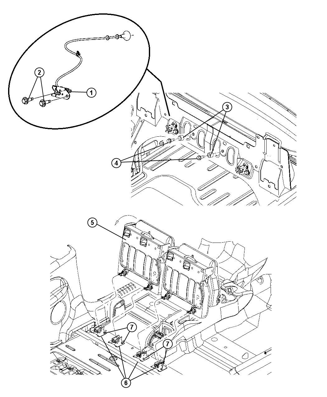 Chrysler Pt Cruiser Striker Seat Latch