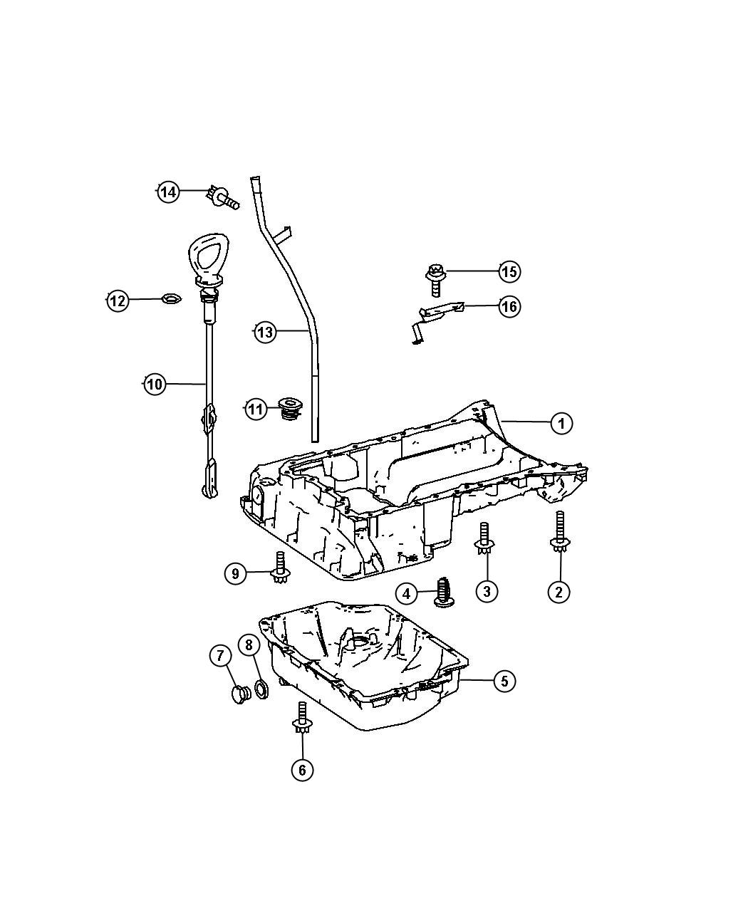 Sprinter Engine Oil Pan Engine Oil Level Indicator