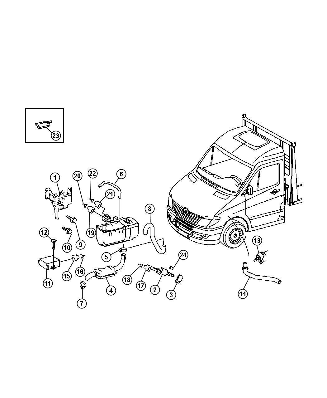 Dodge SPRINTER Remote. Radio, with [remote control for aux