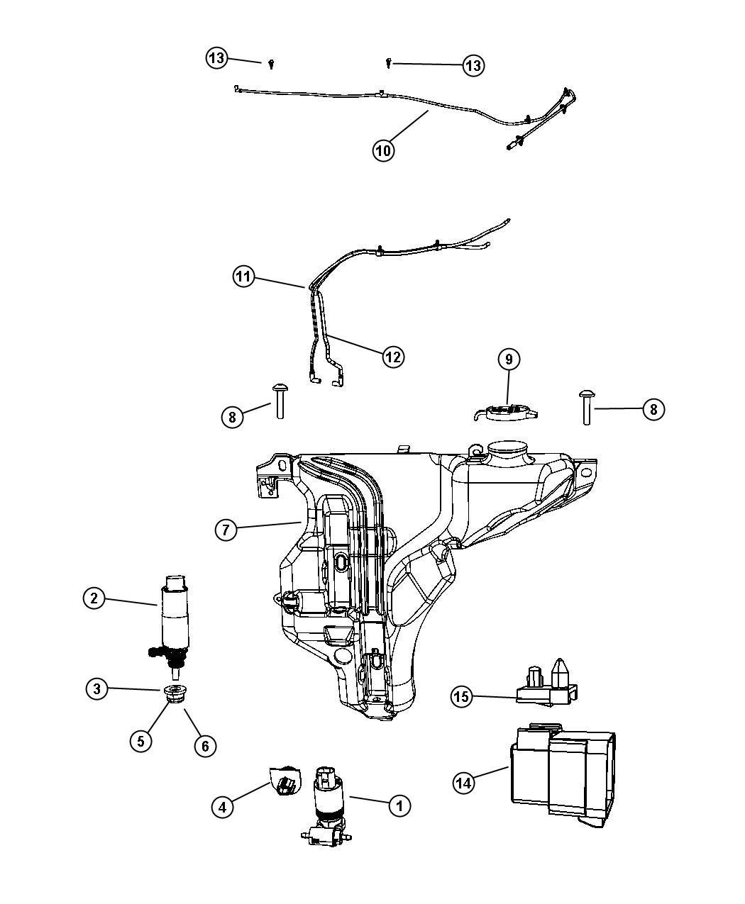 2009 Dodge Journey Front Washer System