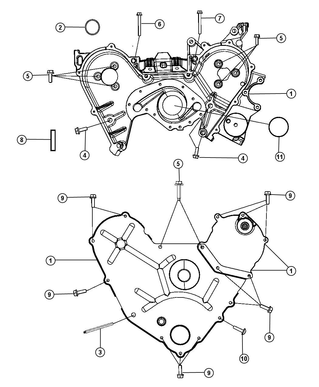 Dodge Journey Gasket, seal. Water pump, water pump to