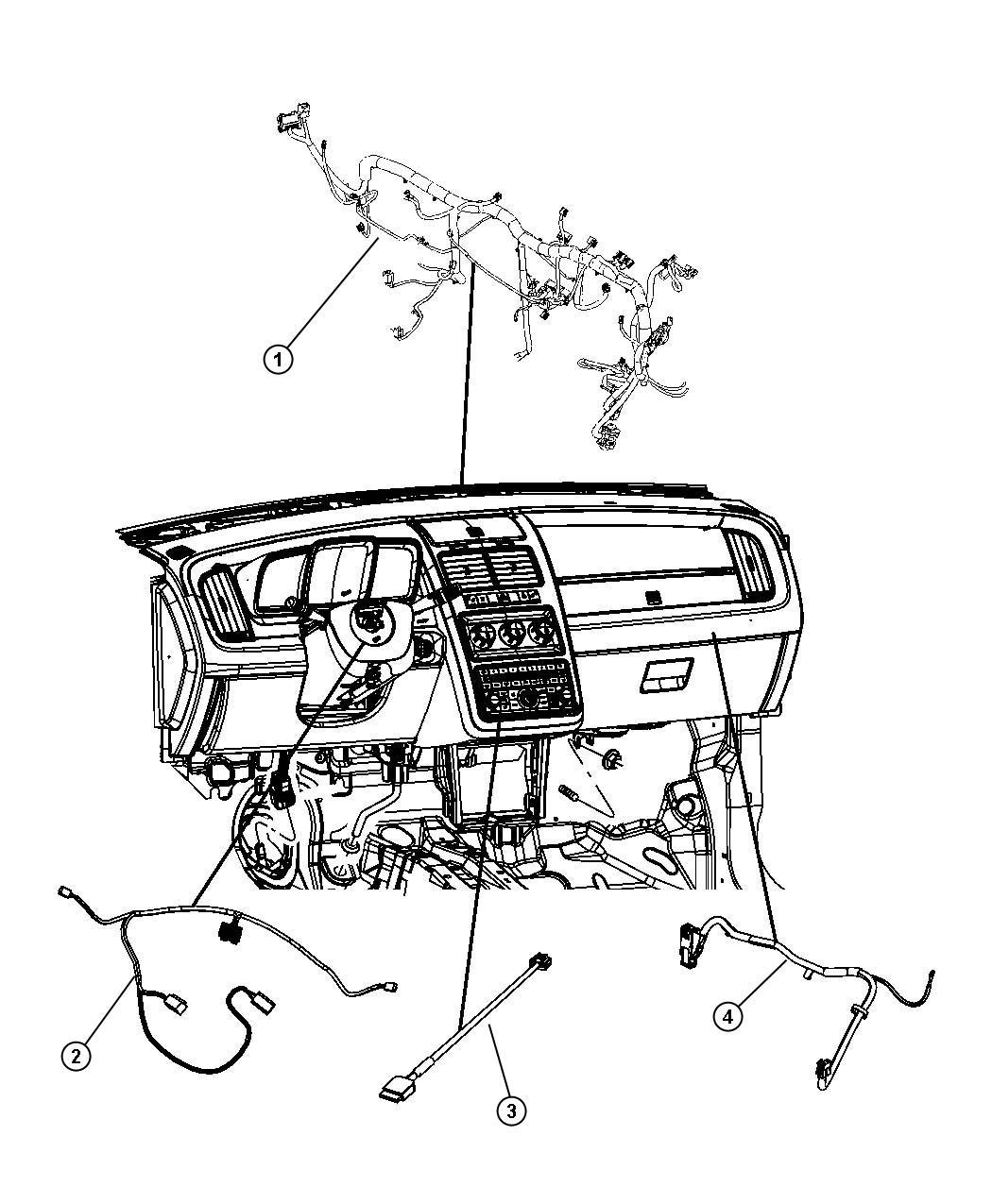 Dodge Journey Wiring. Instrument panel. [air cond atc w