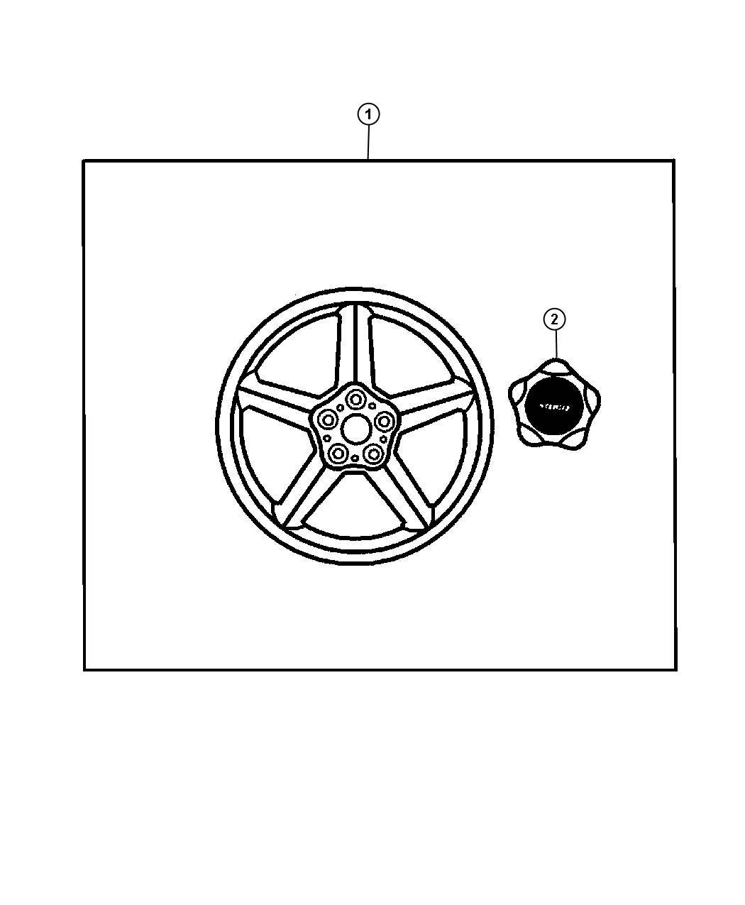 Dodge Journey Wheel Kit Cast Aluminum 19x7 Chrome