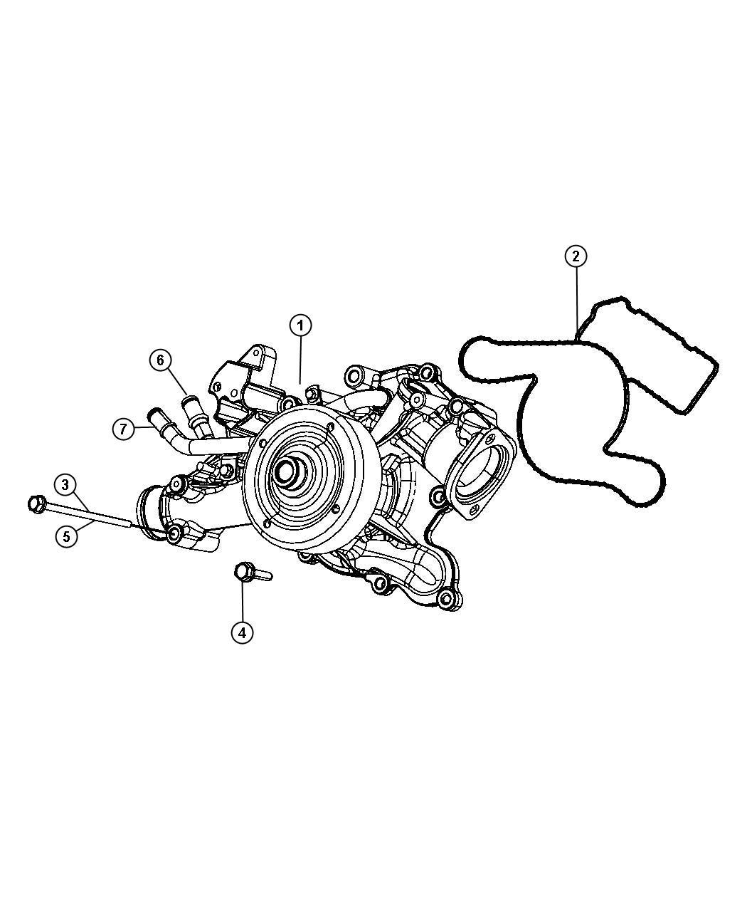 Chrysler Aspen Gasket. Water pump. [california emissions