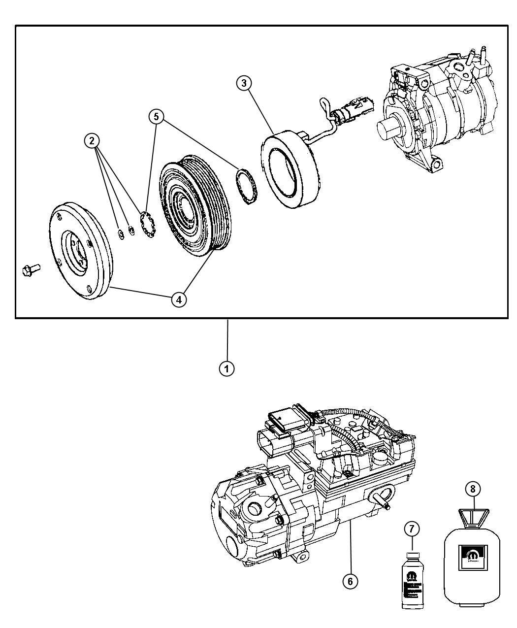 Dodge Durango Lubricant. A/c compressor. 250ml. Electric