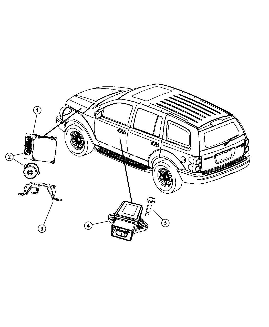 Dodge Durango Module. Anti-lock brake system. [anti-lock 4