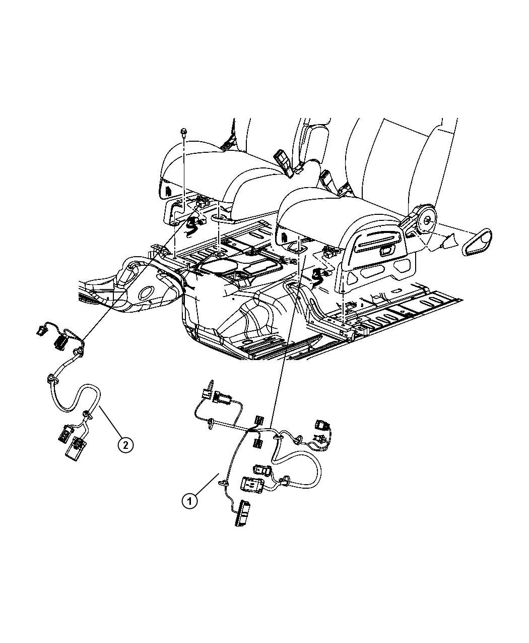 Jeep Compass Wiring. Seat. Heated seat, track position