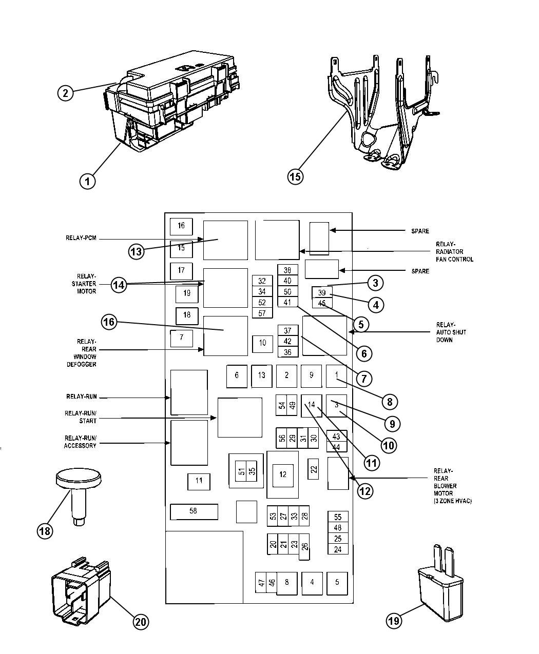 Chrysler Town & Country Module. Totally integrated power