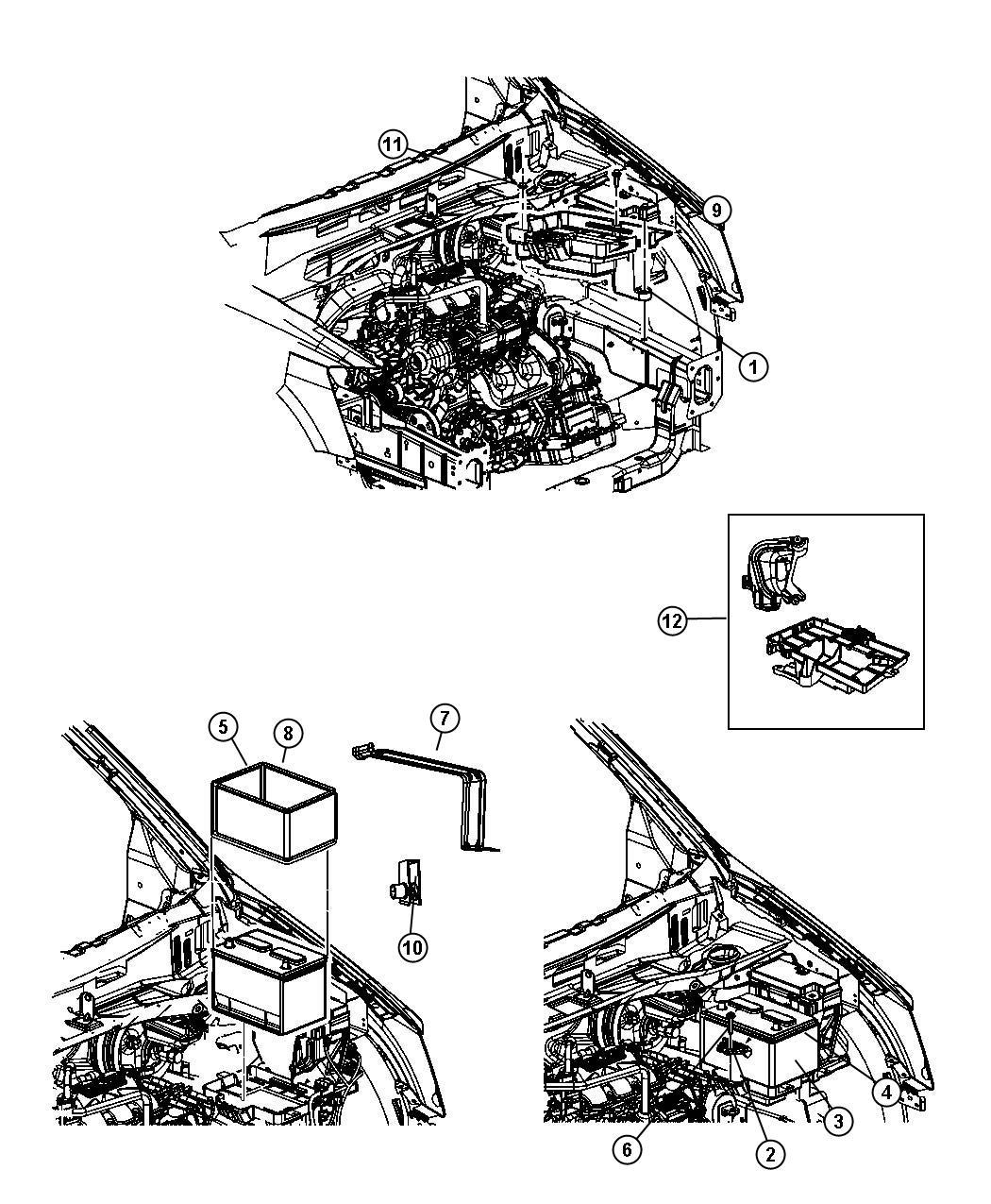 Dodge Grand Caravan Battery. Storage. Asia pacific. [825