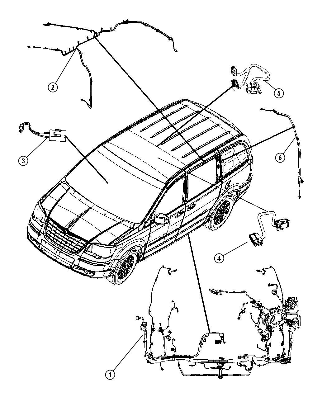 Dodge Grand Caravan Wiring Body Upper Rr View Auto