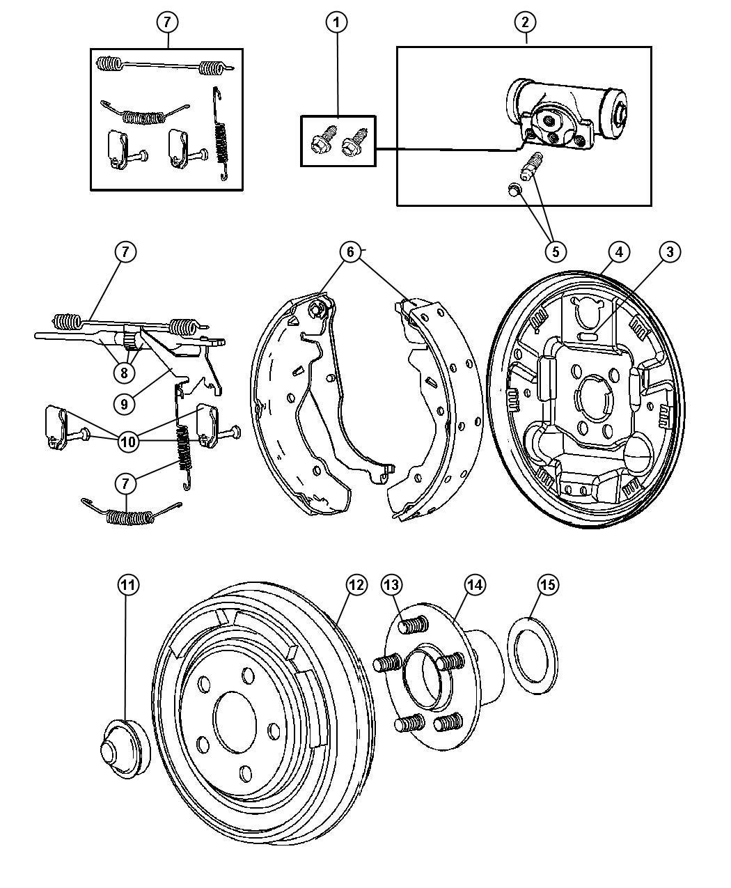 Chrysler Pt Cruiser Plate. Brake backing. Left. [brakes