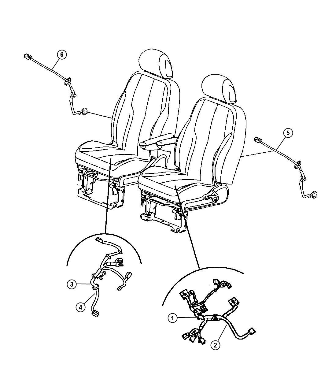 Chrysler Pt Cruiser Wiring. Power seat. Power, side air