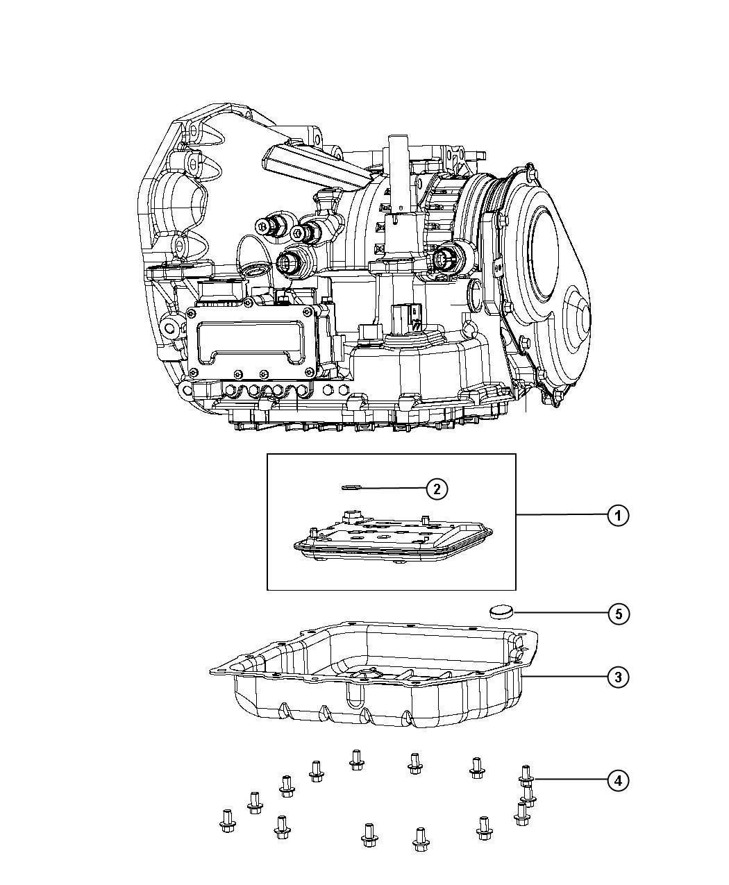 2008 Dodge Avenger SXT 2.4L 4 Cyl A/T Filter kit, filter