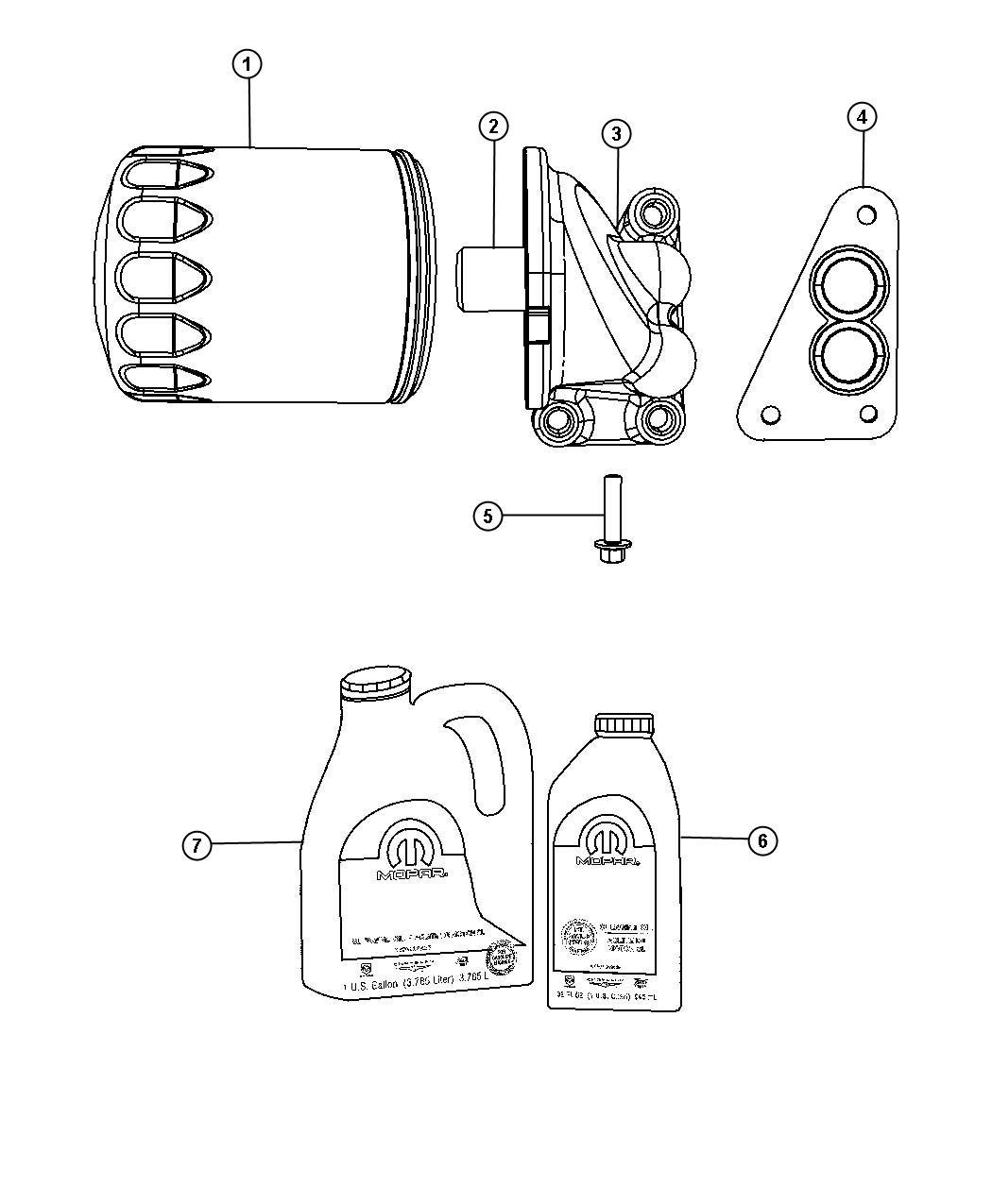 Chrysler Pt Cruiser Engine oil. 5w30. Gallon. [128 fluid