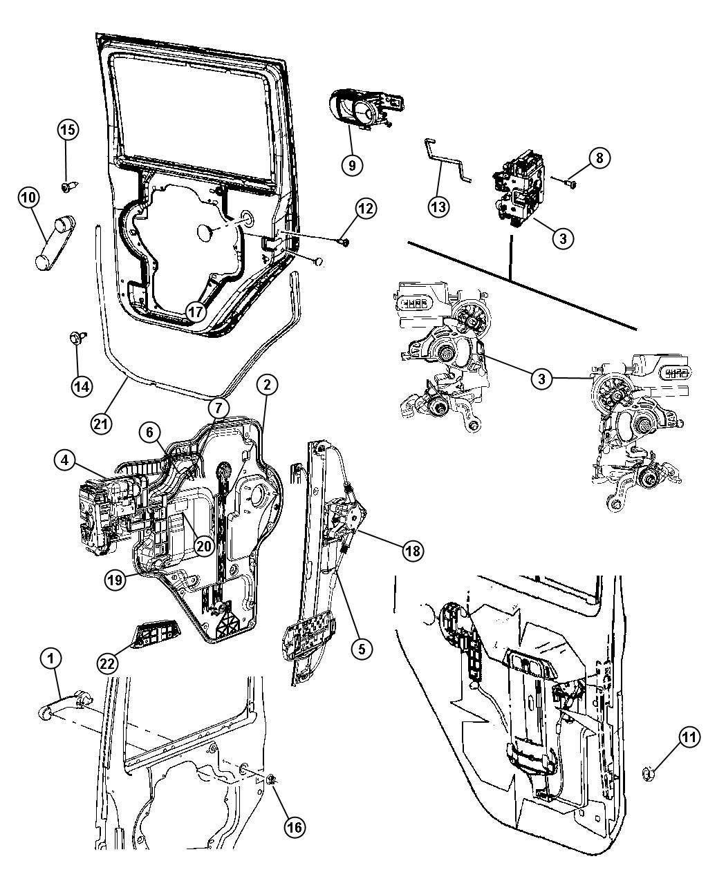 Jeep Wrangler Panel. Carrier plate. Rear door. Left