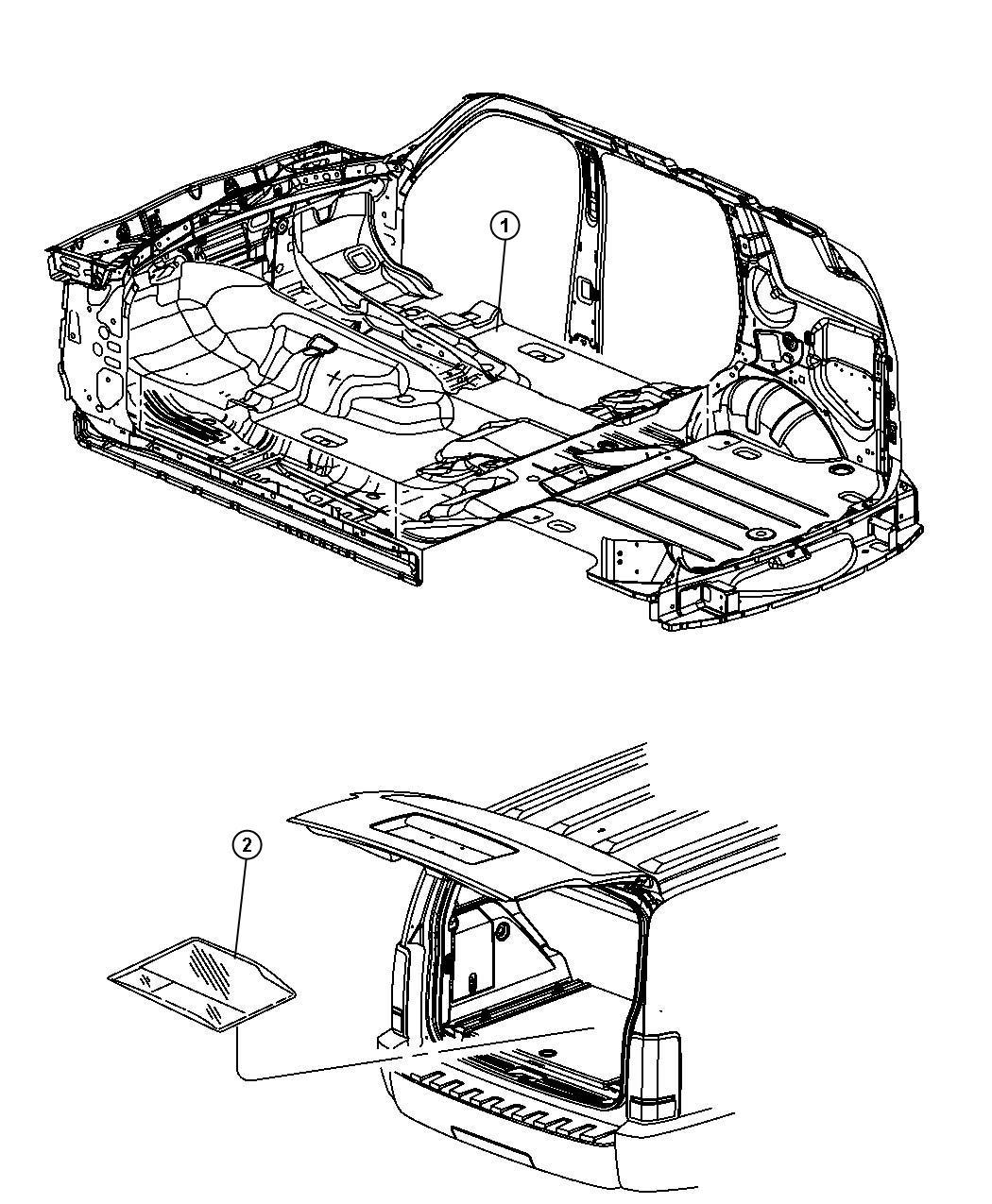 Dodge Nitro Mat kit. Floor. [db] or [dv], [dv]. Trim: (*o0