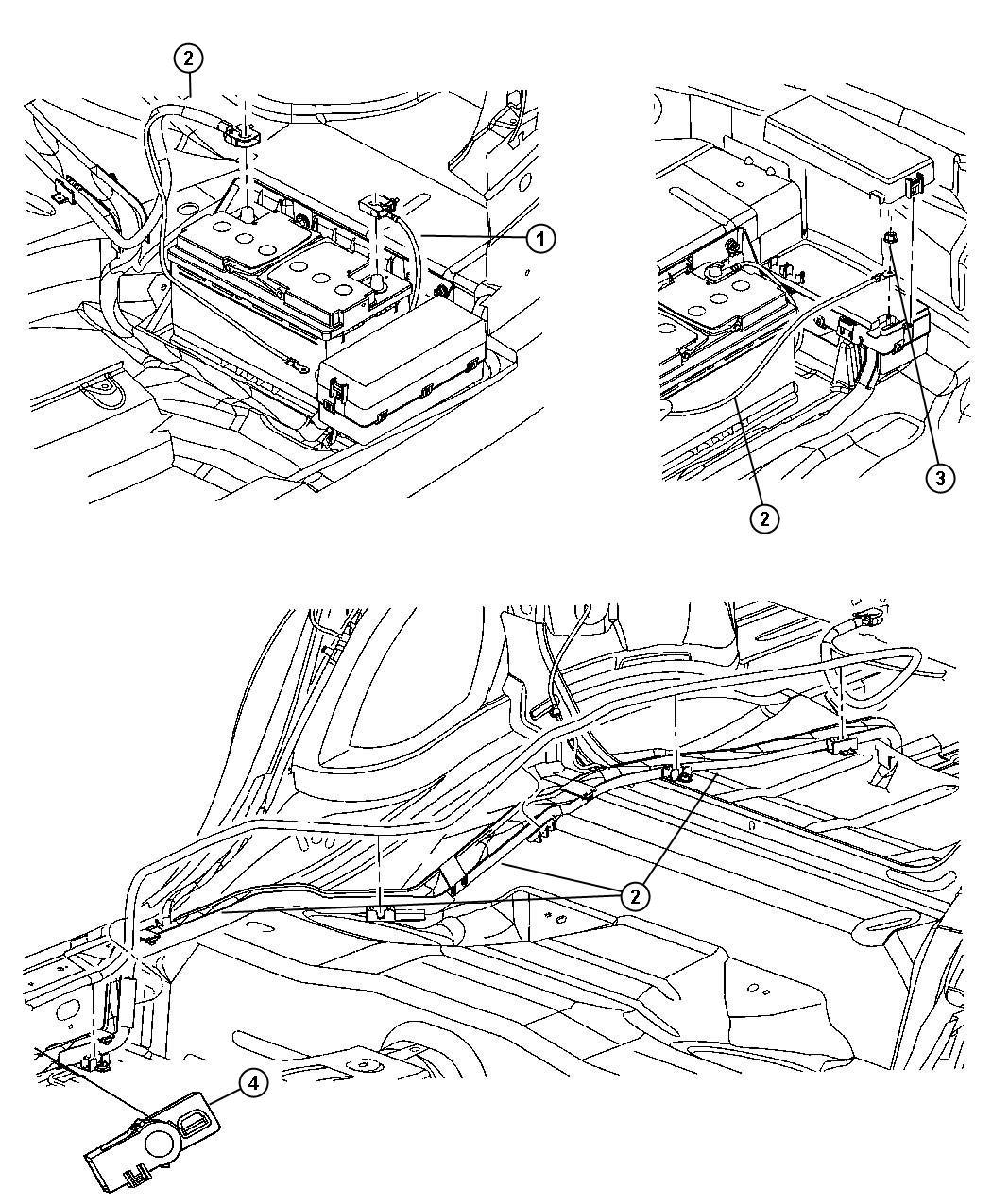 Chrysler 300 Wiring. Battery positive. [long wheel base