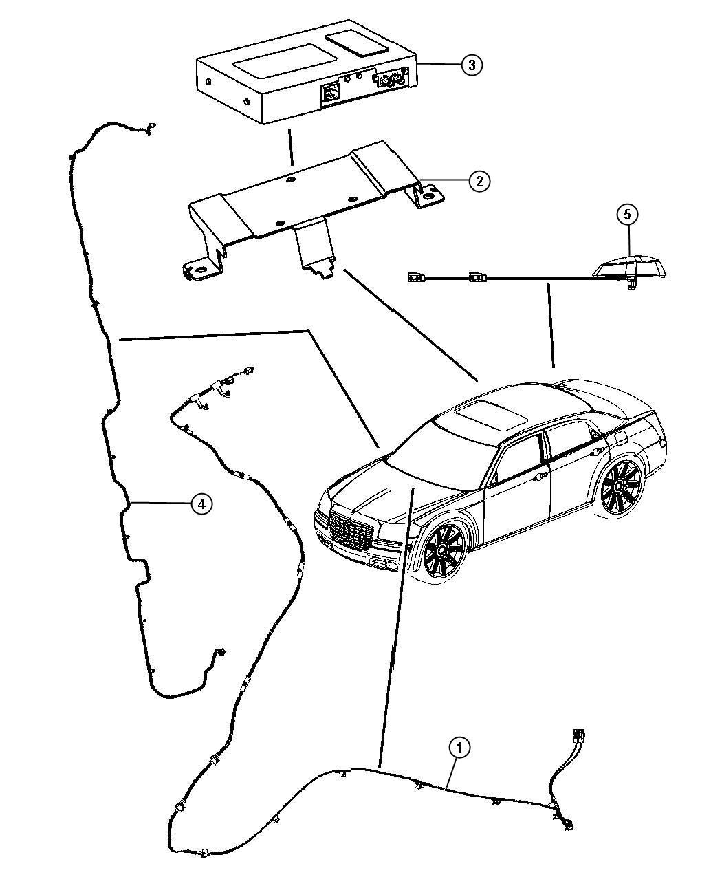 Chrysler 300 Cable. Antenna. [sirius backseat tv