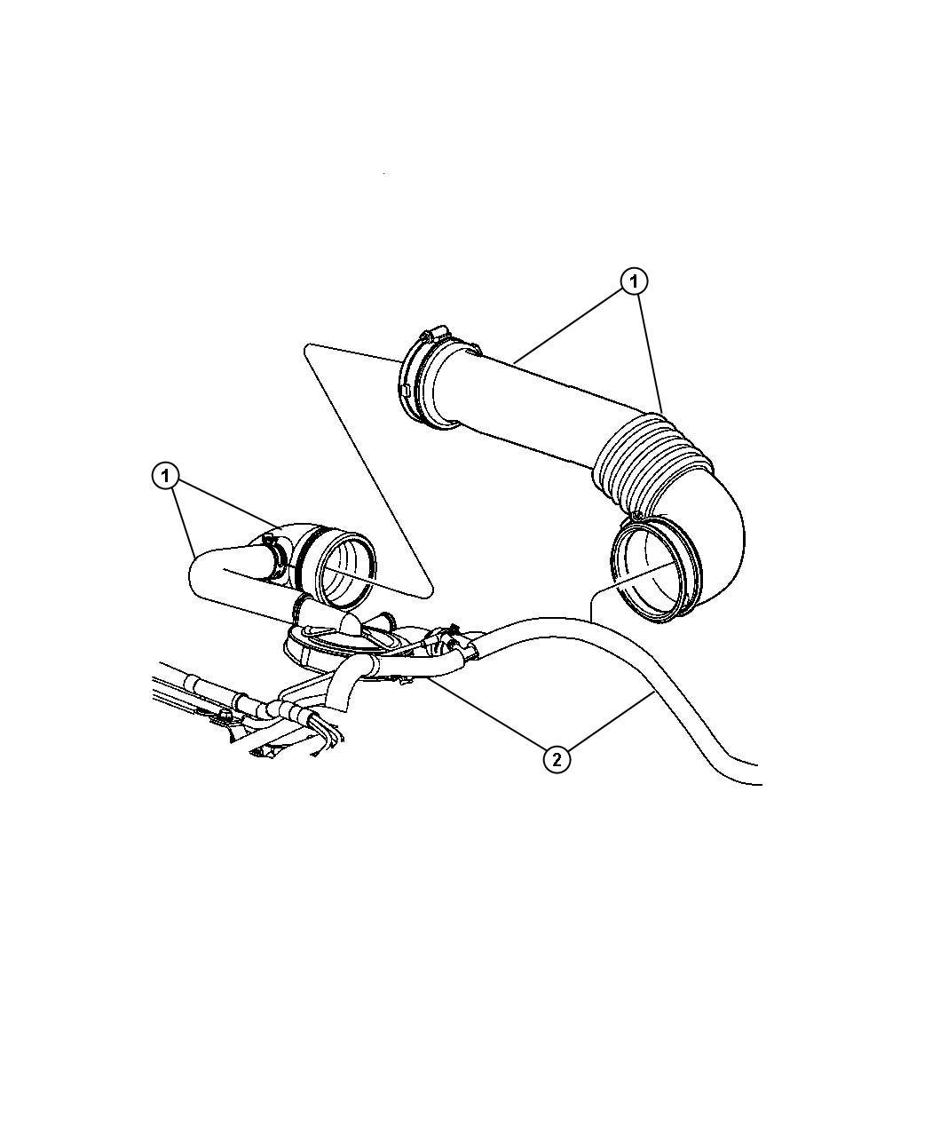 Jeep Patriot Hose. Brake booster vacuum, vacuum supply
